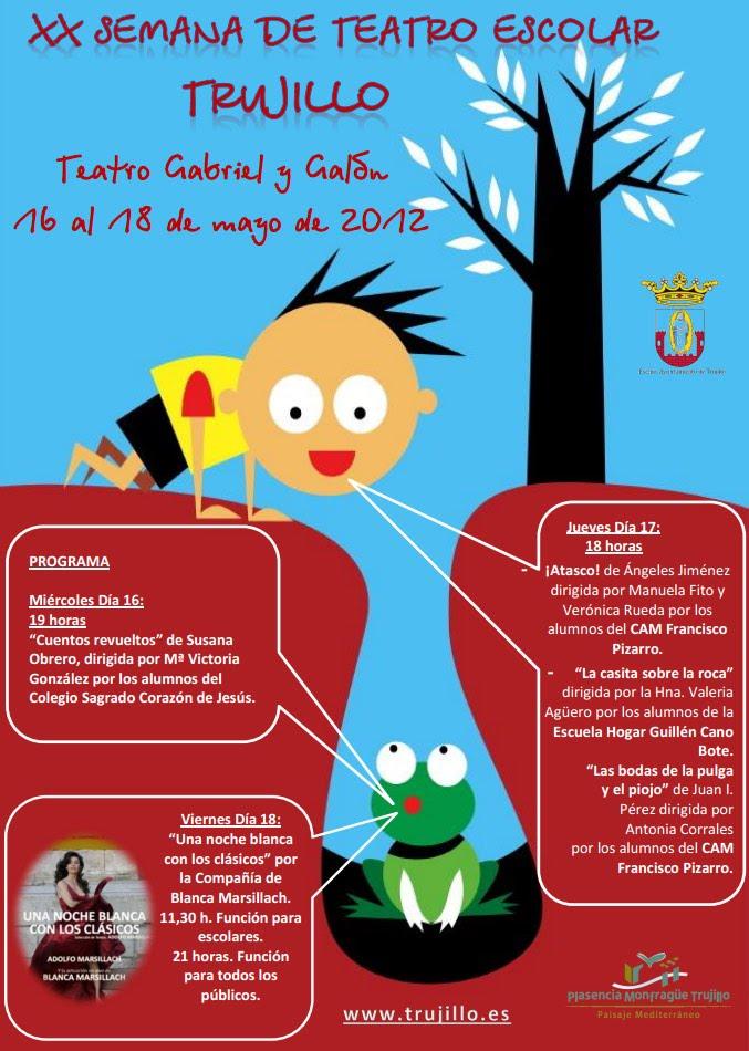 Cartel de la semana de Teatro escolar de Trujillo